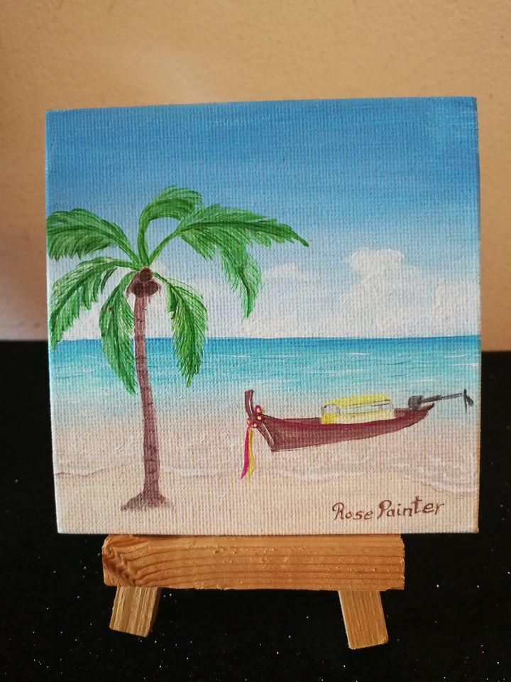 Mini Lienzo Tailandia - Pintura al óleo