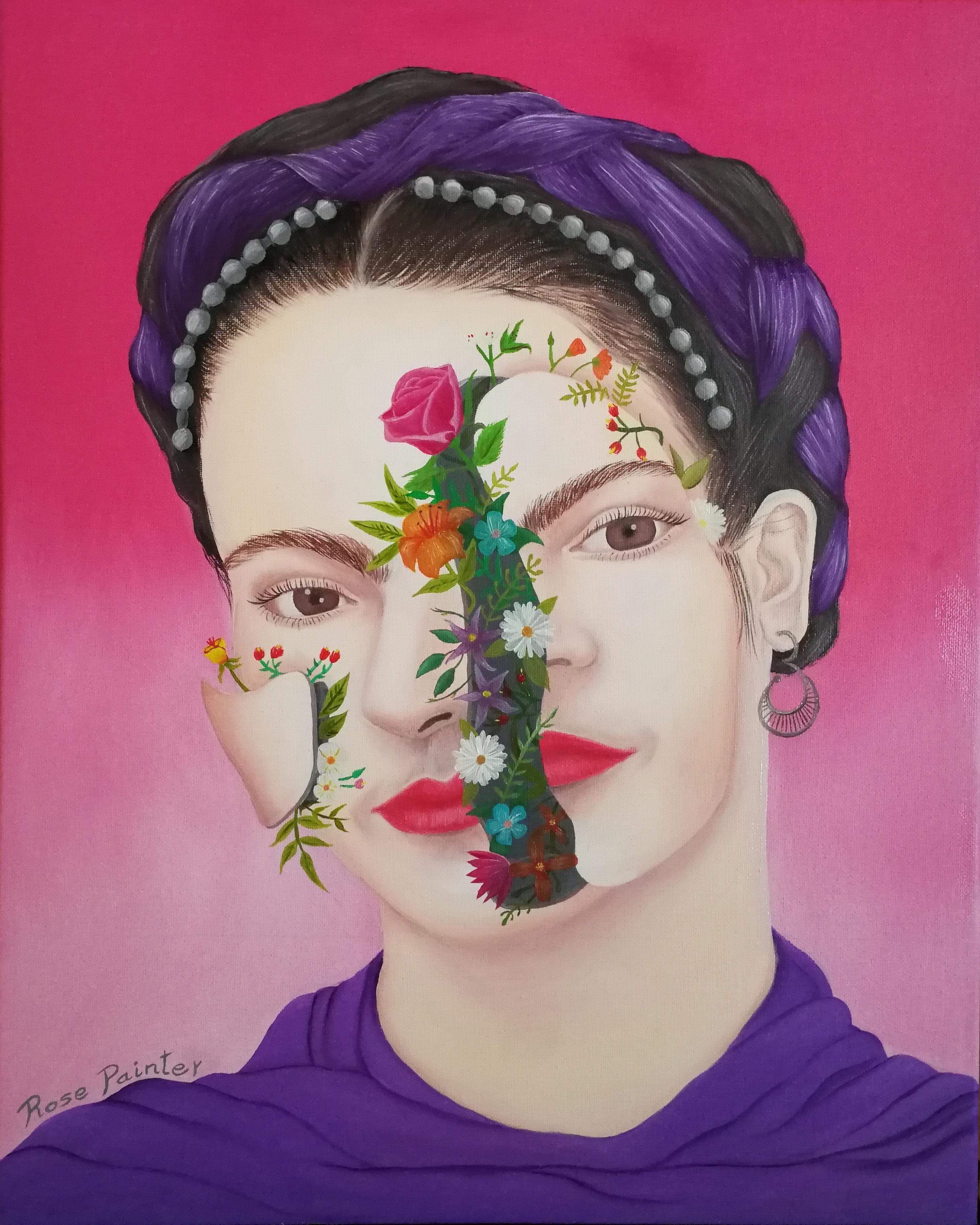 Frida Kahlo - Oil painting