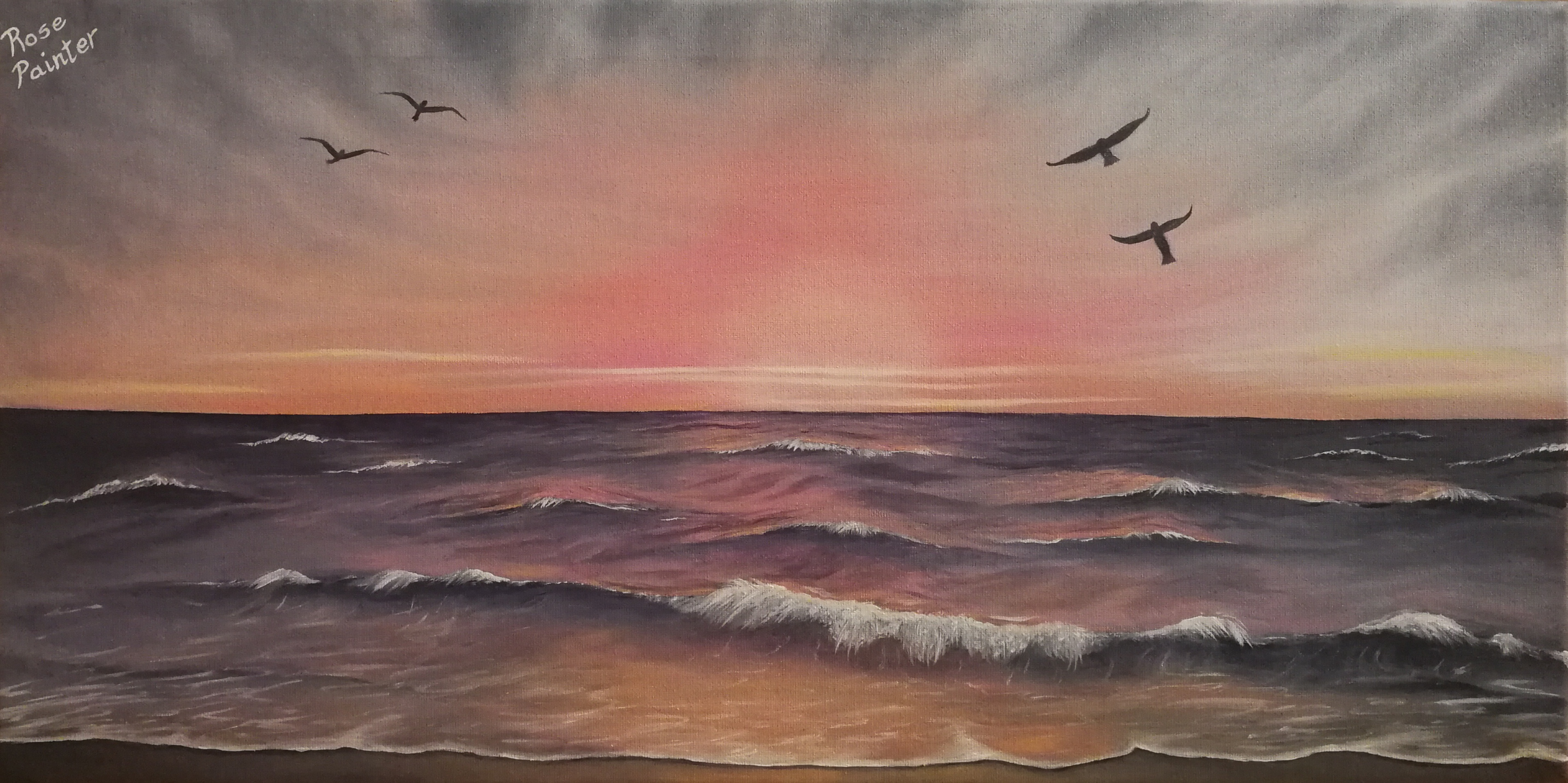 Atardecer - Oil painting
