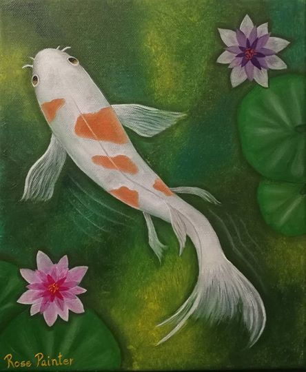 Koi - Oil Painting