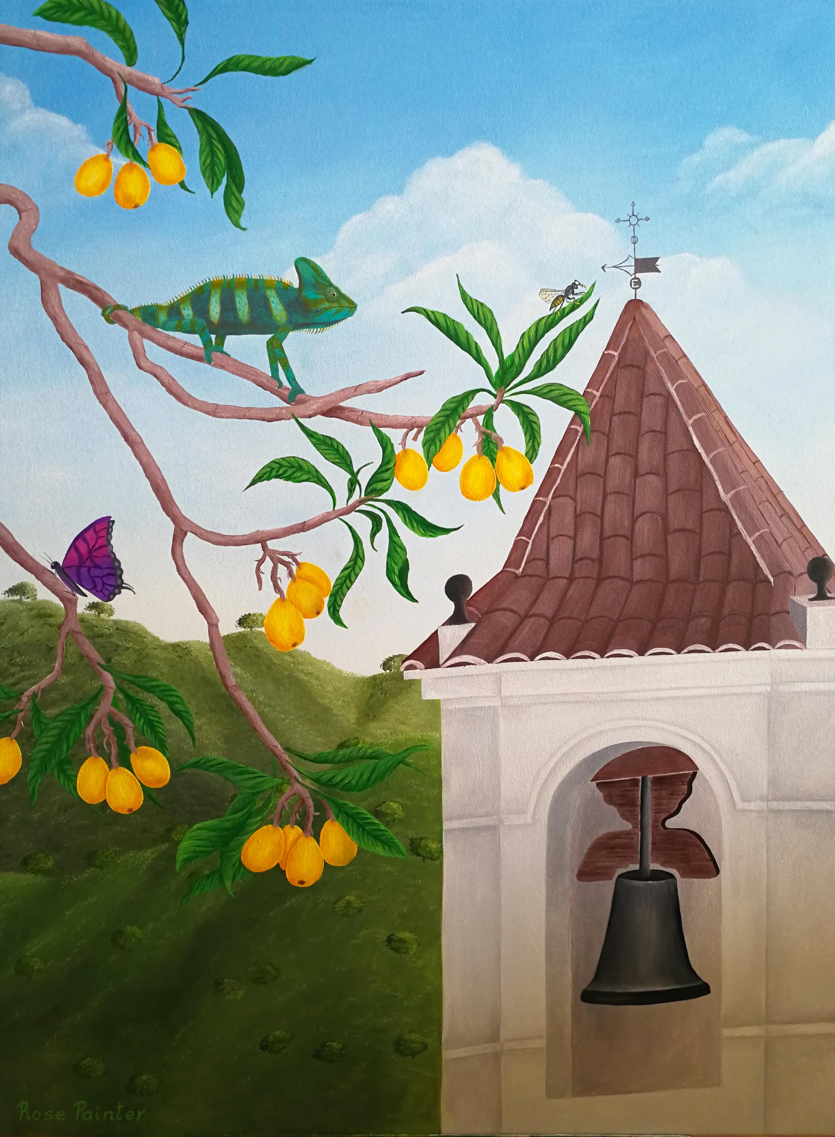 Tiempo de nísperos - Oil painting
