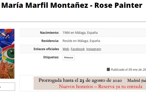Rose Painter en ArteInformado