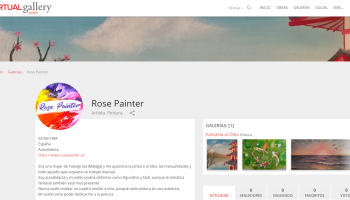 Rose Painter en Virtual Gallery