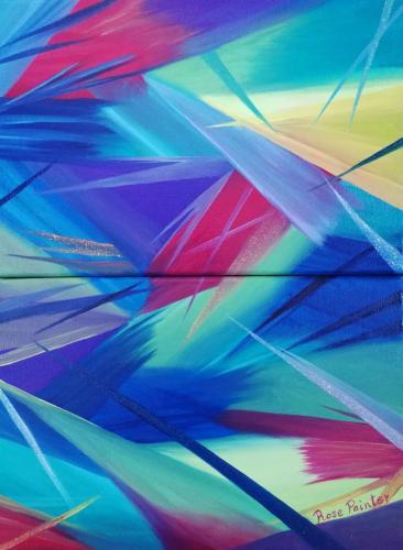Colores y Líneas (Composición de 3 cuadros)