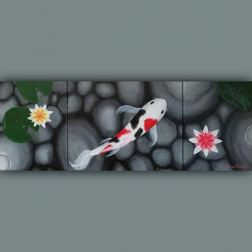 Composición de pez koi 力 Chikara